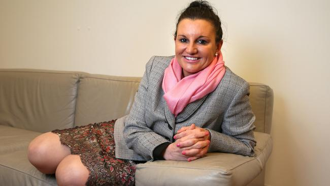 Concerned ... Jacqui Lambie says burqas are a security threat and she 'cannot see who is under that clothing'.