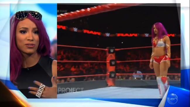 WWE Sasha Banks visits Australia