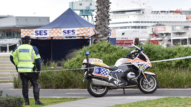 A body has been found between Princess and Station Pier in Port Melbourne. Picture: Ellen Smith