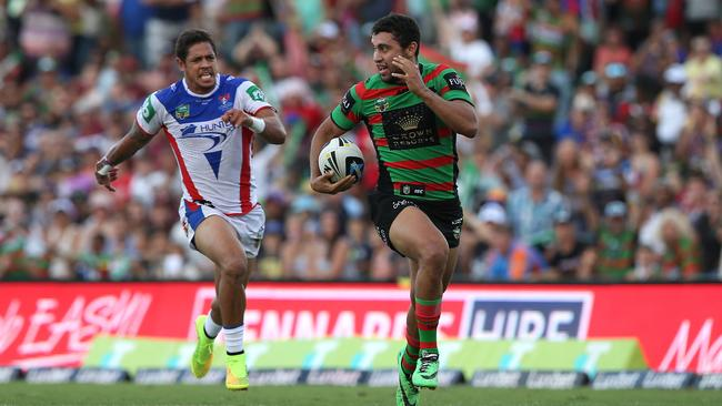 Three tries against the Knights has Johnston up with the NRL's best.