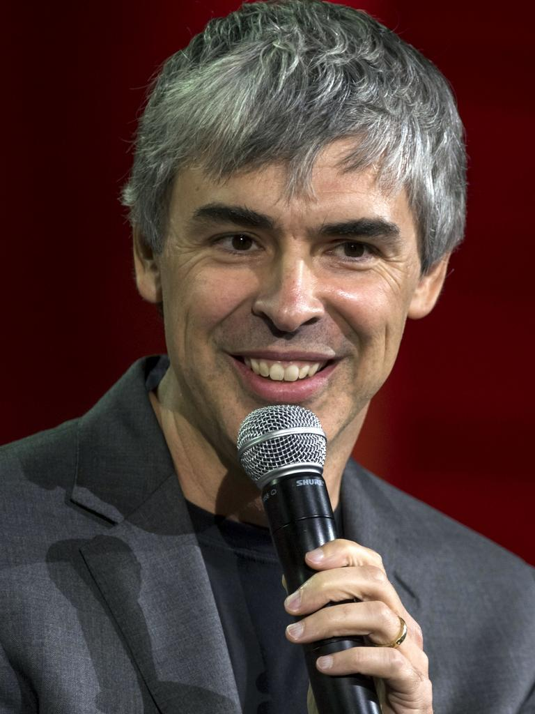 Larry Page speaking at a conference in 2015 Picture: David Paul Morris/Bloomberg