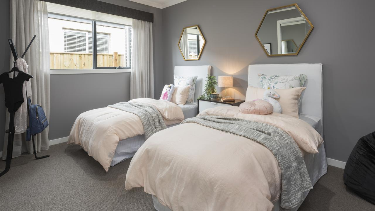 Twice as nice: one of the secondary bedrooms.