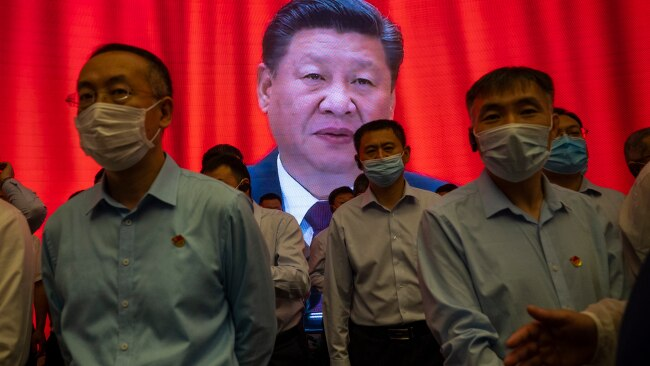 A new set of guidelines have been introduced by Chinese ruler Xi Jinping to crack down on effeminate men. Pictured, visitors stand inside the Memorial of the First National Congress of the Communist Party of China in Shanghai. Picture: Getty Images
