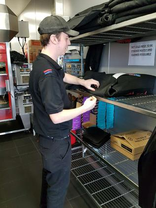 Mr Fleming used to work at Domino's.