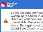 The ServiceNSW is experiencing an outage.