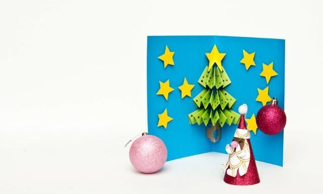 DIY homemade Christmas pop up card