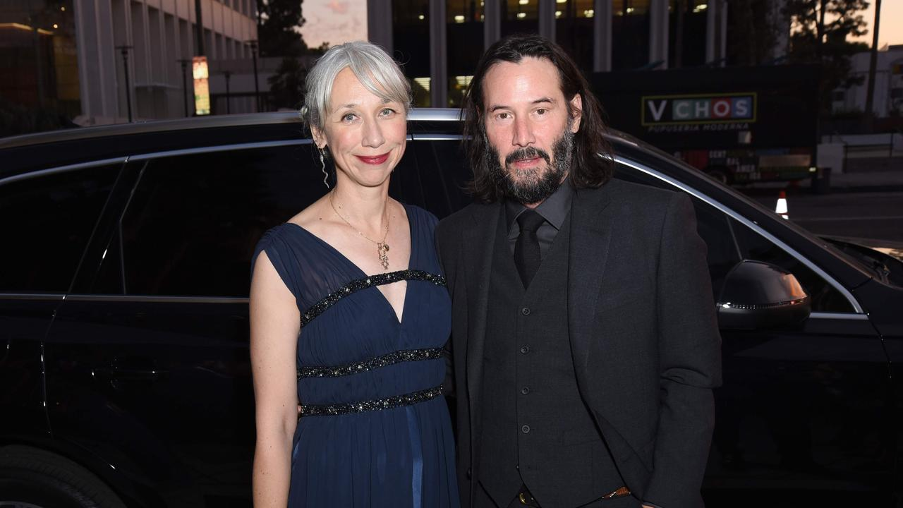 Grant and Reeves made headlines when they stepped out together at this November event. Picture: Getty/AFP