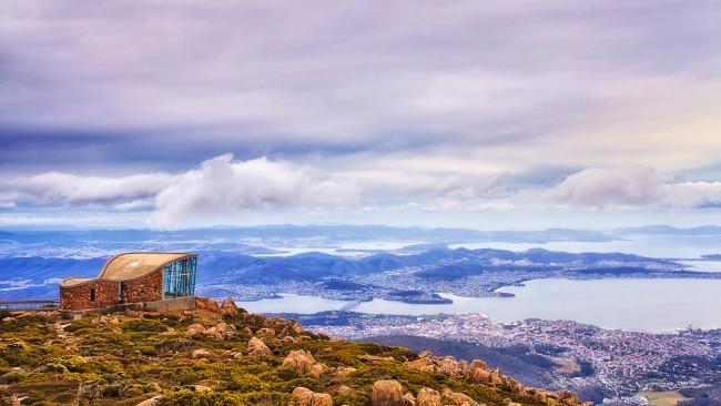 Overlooking magical Hobart, Tasmania.
