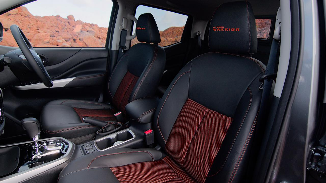 The interior is more luxurious than you'd expect from a ute.