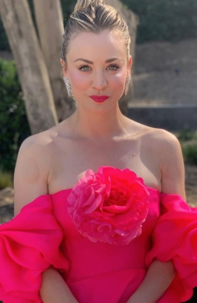 In full bloom. Picture: kaleycuoco/Instagram