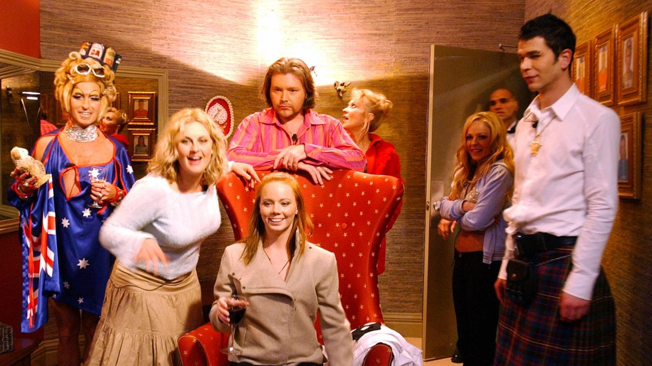 The housemates in the diary room.
