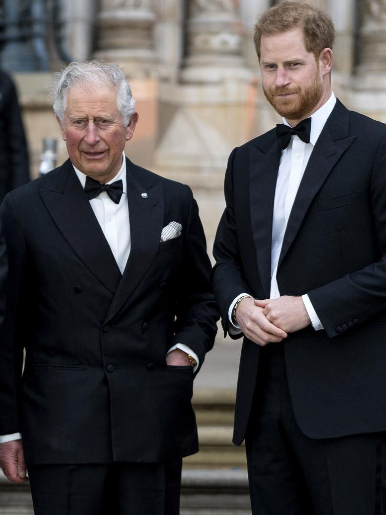 Prince Charles and Prince Harry in 2019. Picture: Niklas HALLE'N / AFP.