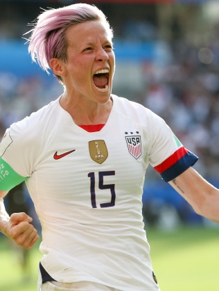 US women's football player Megan Rapinoe has been singled out by President Trump for criticism. Picture: Getty