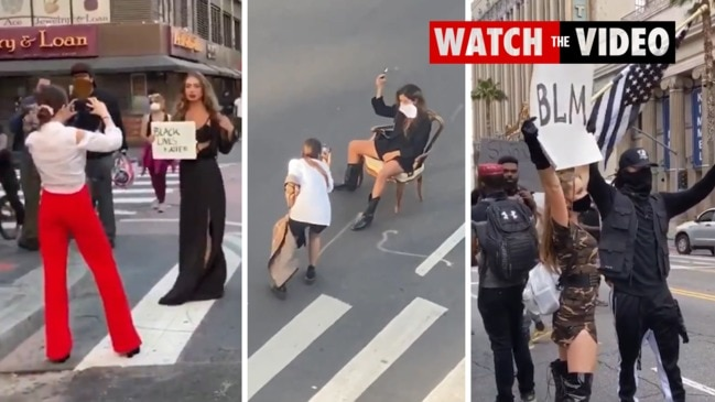 Influencers caught posing during Black Lives Matter protests