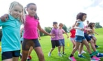 Three legged race  <p>The skills involved are many but the fun outweighs it all! Imagine the teamwork needed to get this one right. Kids will love being tied together with a friend while they enjoy the challenge of trying to walk and run together. Make sure there's a soft landing!</p>
