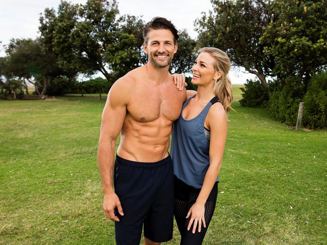 The couple love to show off their buff bodies on social media. Picture: Justin Lloyd