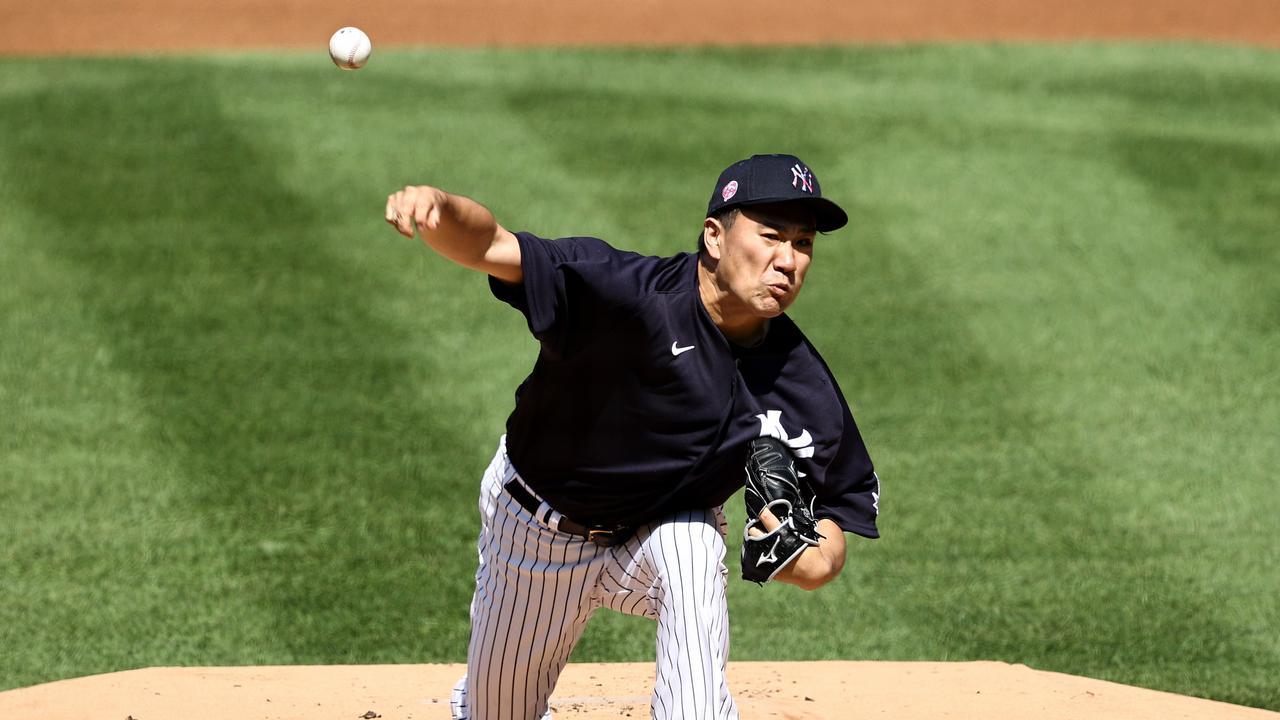 Masahiro Tanaka. (Photo by Elsa/Getty Images)