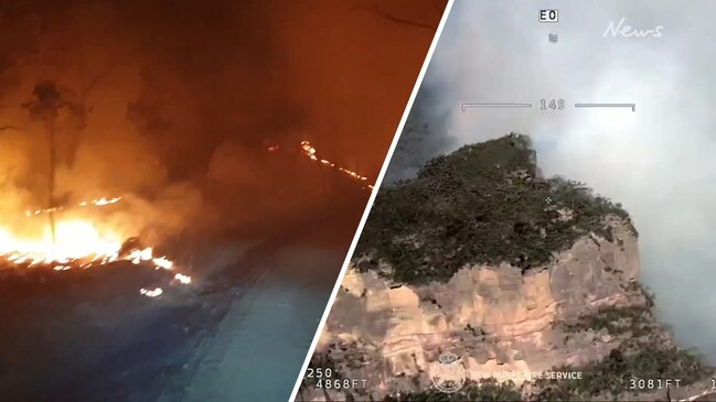 Watch: Dangerous bushfires burn through NSW