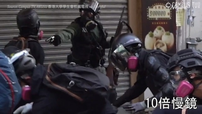 Protester shot with live round for first time in Hong Kong as unrest continues