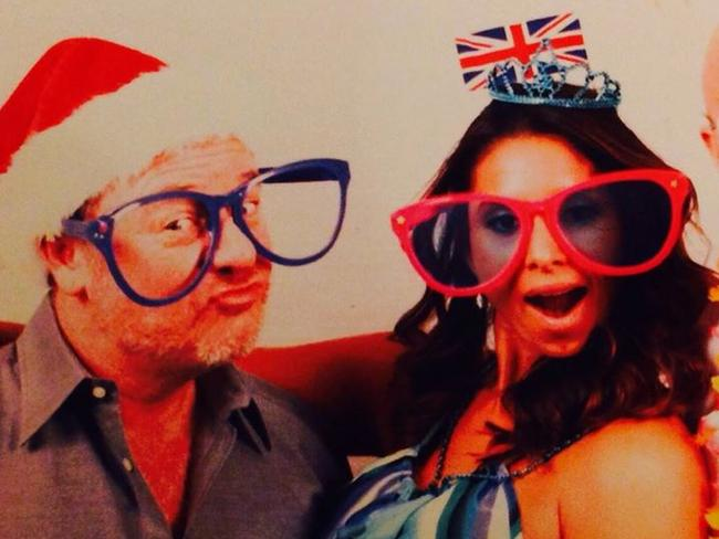 Dr Richard Field and fiancee Dr Lina Bolanos goofing around in photo posted to Facebook