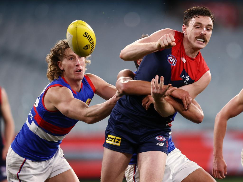 ake Lever might have to contend with a defensive forward attempting to shut him down. Picture: Michael Klein