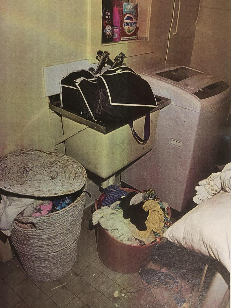 Pictured is Ms Kupfer's laundry at the time police knocked on her door. Picture: Supplied/ Courts SA via NCA NewsWire