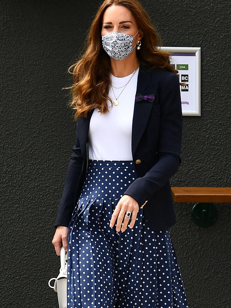 Kate arrived all masked up. (Photo by Ben Stansall/various sources/AFP).