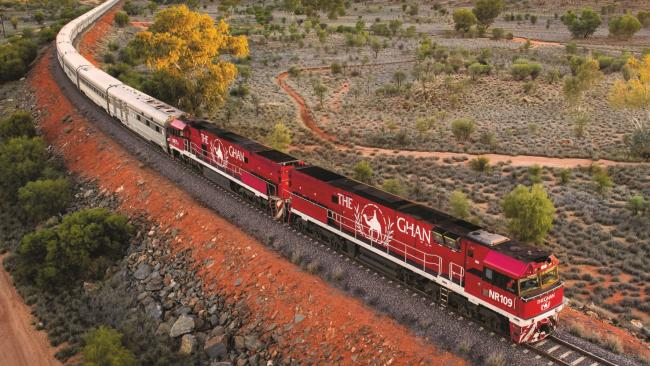 12/26Hop aboard the world's largest passenger train Appreciating the outback doesn't necessarily mean roughing it in a swag. If you like your creature comforts but want to have an adventure at the same time, then a journey on The Ghan, the Aussie equivalent of The Orient Express, might just be for you. Both Australia's most famous train ride and, at an average of 774m, the world's longest passenger train, since its 1929 launch this prestigious rail journey has taken passengers from Adelaide to Darwin and back through spectacular outback scenery. Picture: Sven Kovac