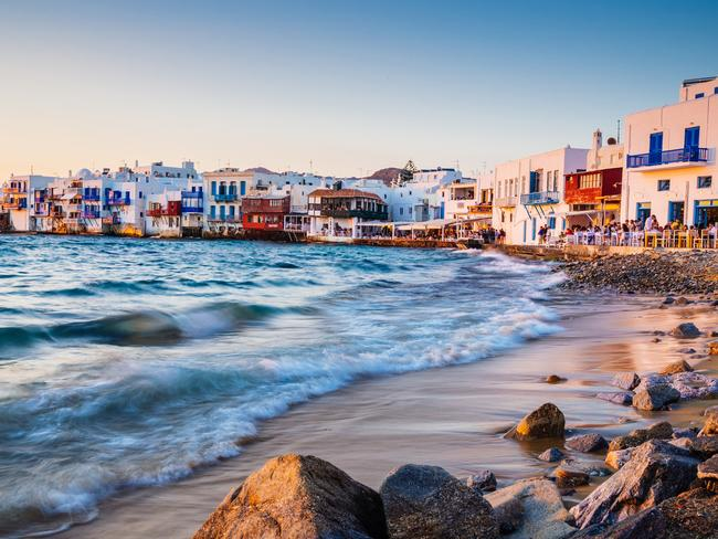 MYKONOS: Popular island for the party crowd thanks to it's stunning location, cafe and bar scene and night life. Picture: iStock