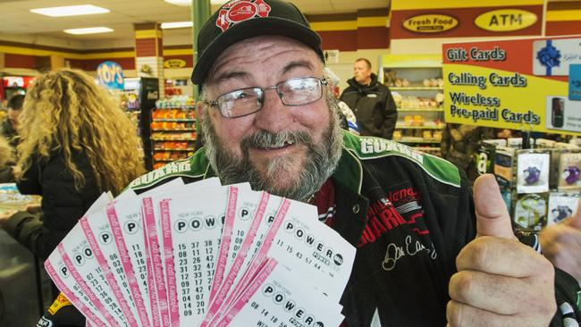 This guy was so keen to win the US Powerball he bought himself $1000 worth of tickets. His chances of winning were still ridiculously tiny. Picture: Ryan Remiorz/The Canadian Press via AP
