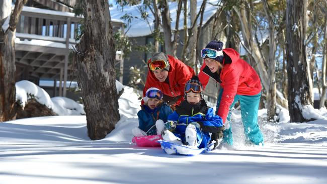 Dinner Plain is a great place to take the kids tobogganing for the first time. Picture: Supplied