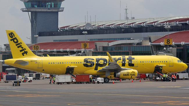 The man is recovering after the terrifying incident on the Spirit Airlines plane. File image.
