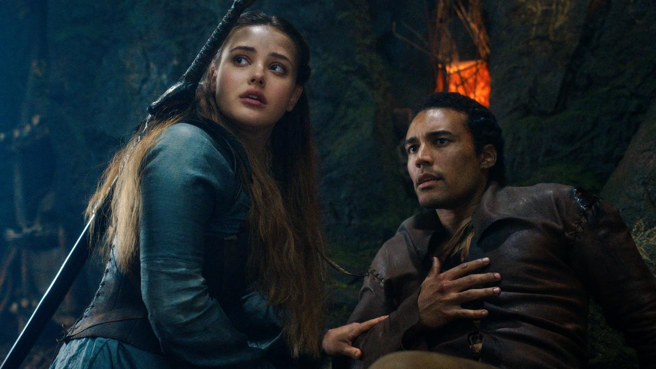 Perth actors Katherine Langford and Devon Terrell star in new Netflix series, Cursed. Picture: Supplied/Netflix