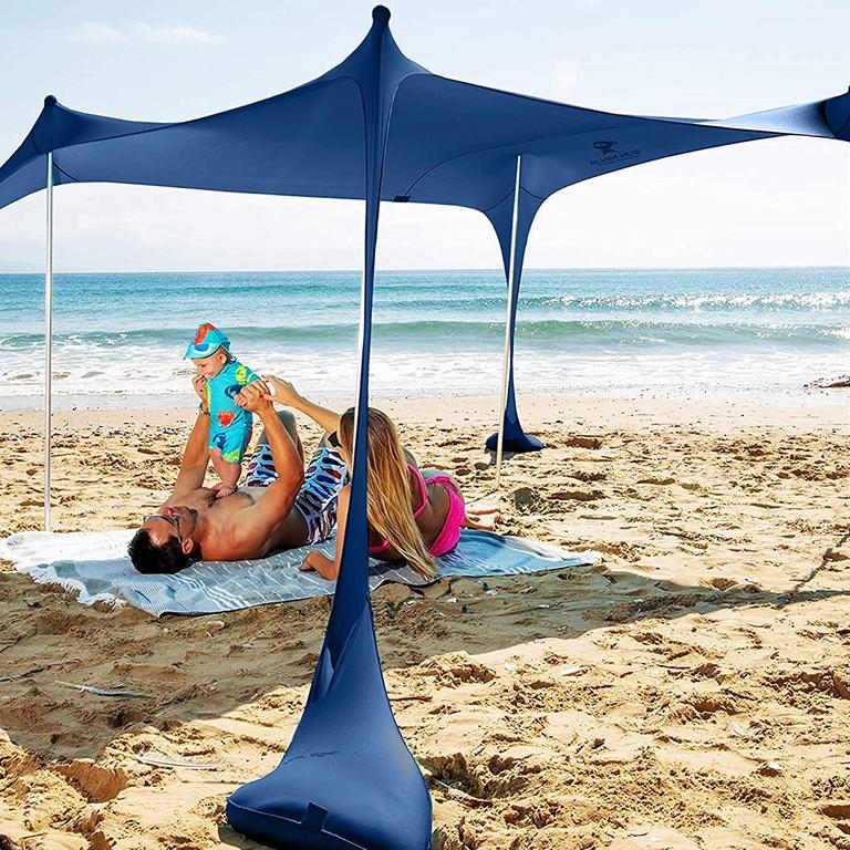 Blue beach tent from Amazon