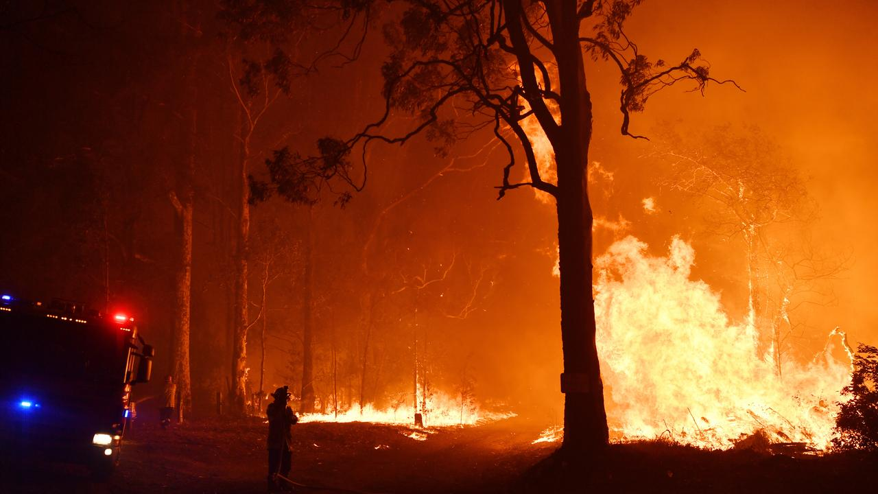 The Canadian team will assist local fireys for 38 days. Picture: Dean Lewins/AAP