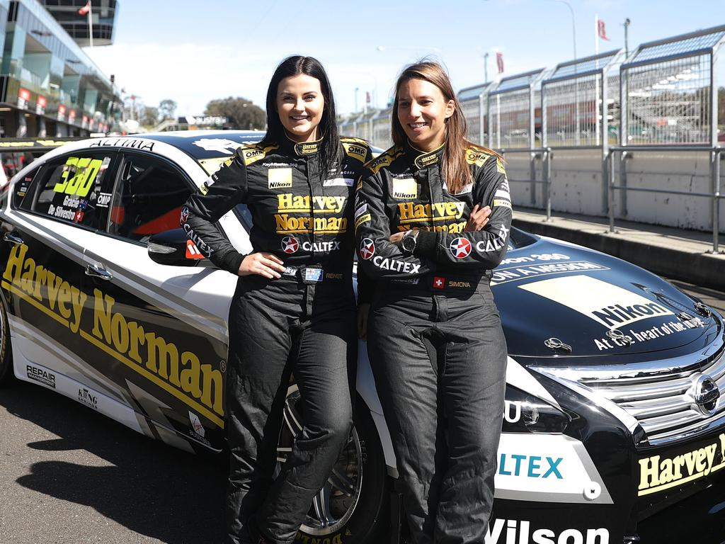 Gracie (left) knows what a thrill it is to race around Bathurst.
