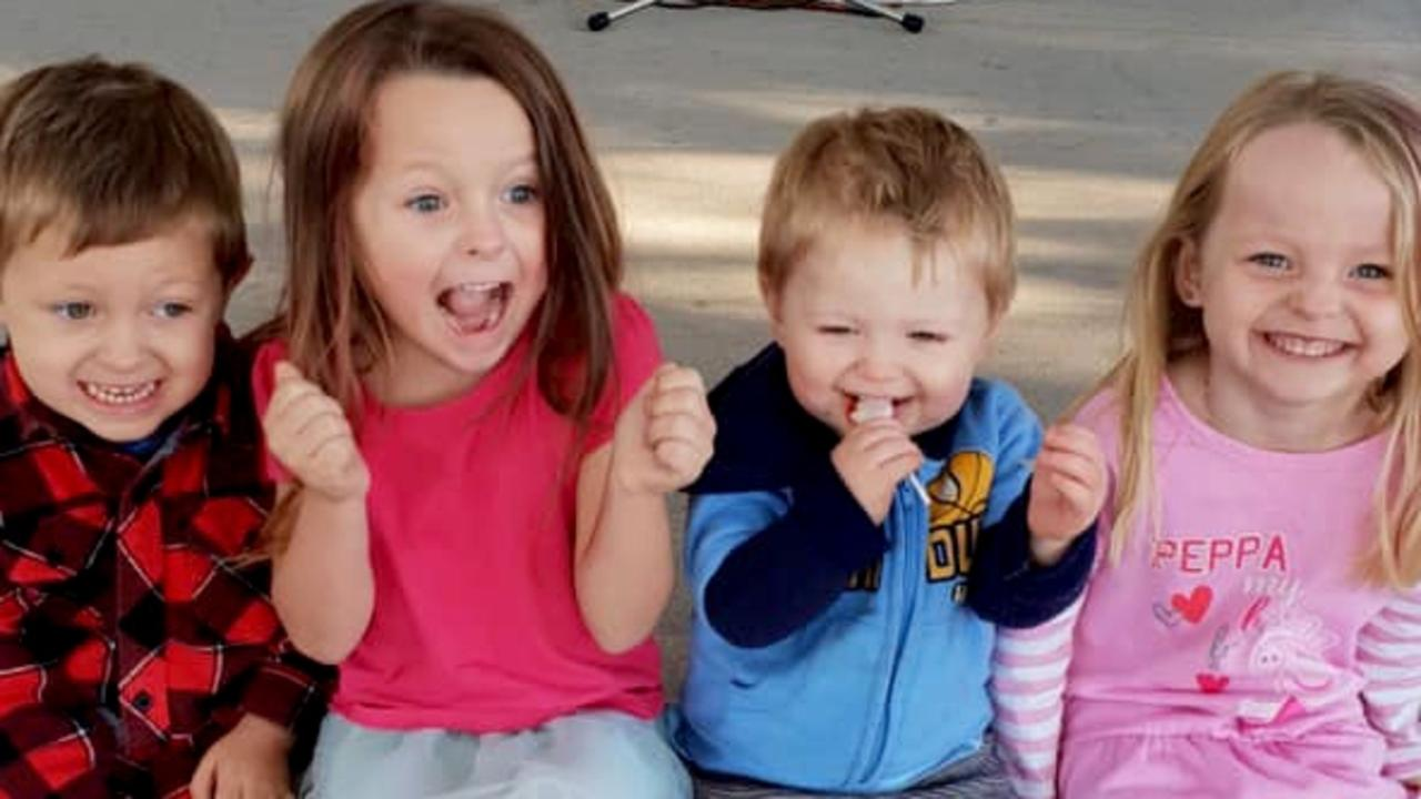The deaths of (from left) Wyatt, Ally, Zaidok and Matilda McLeod have shocked the nation. Picture: Supplied