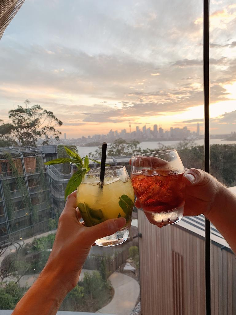 Nothing says a holiday better than a cocktail with a view. Picture: Lisa Diederich Photography