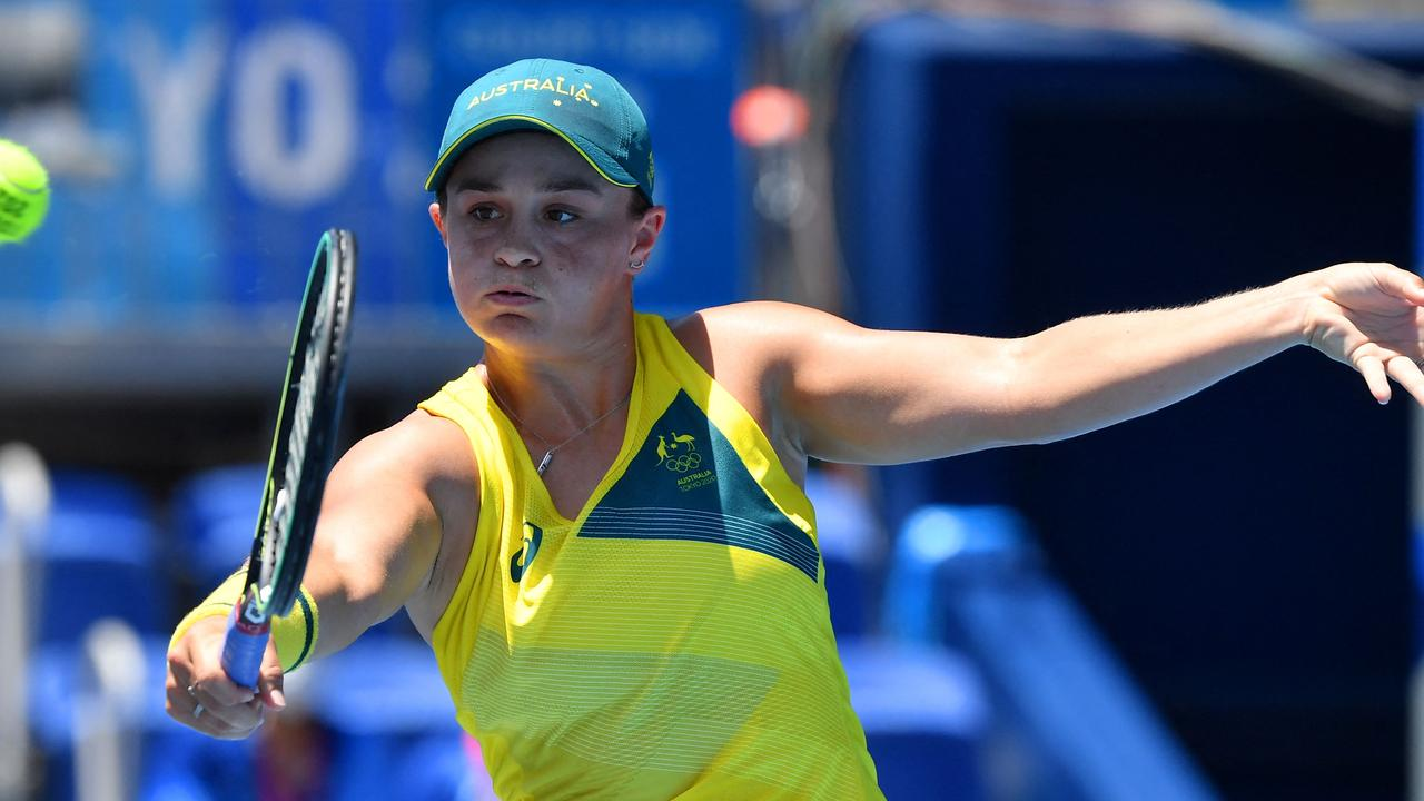Ash Barty's gold medal dreams are over.