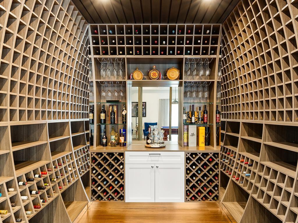 The bespoke wine cellar.