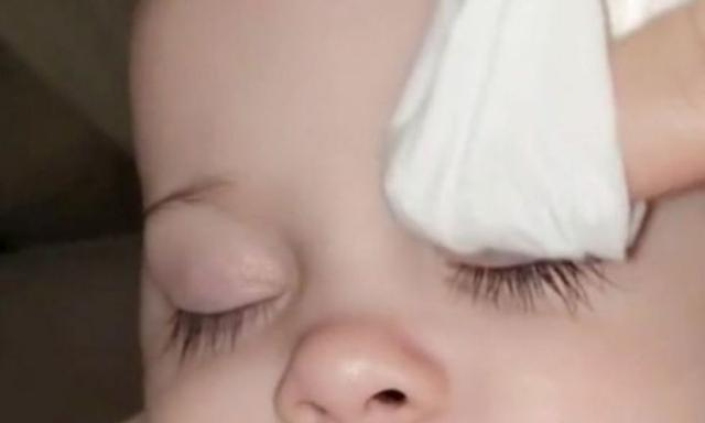 Mum defends claims baby's lashes are fake on TikTok