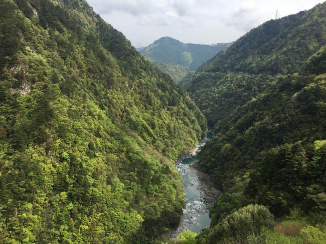 A view of Iya Valley from Hotel Iya Onsen on Japan's Shikoku Island. Photo: AAP Image/Belinda Merhab