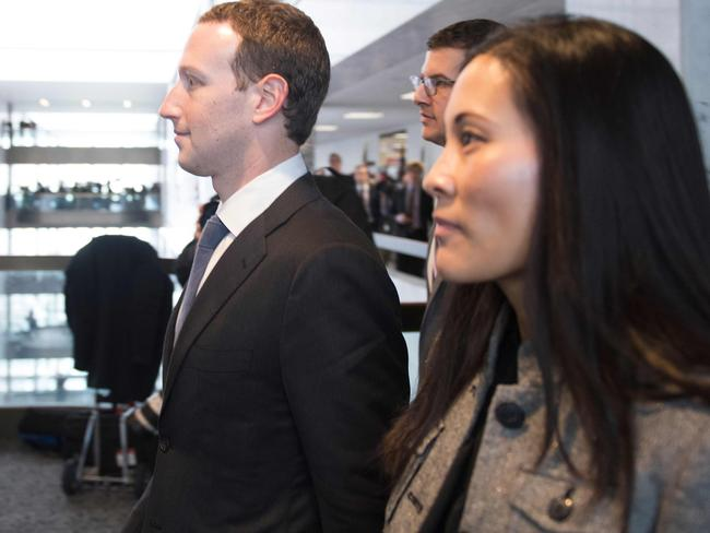 Mark Zuckerberg arrives at Capitol Hill with his executive assistant and frequent travel companion  Andrea Besmehn.