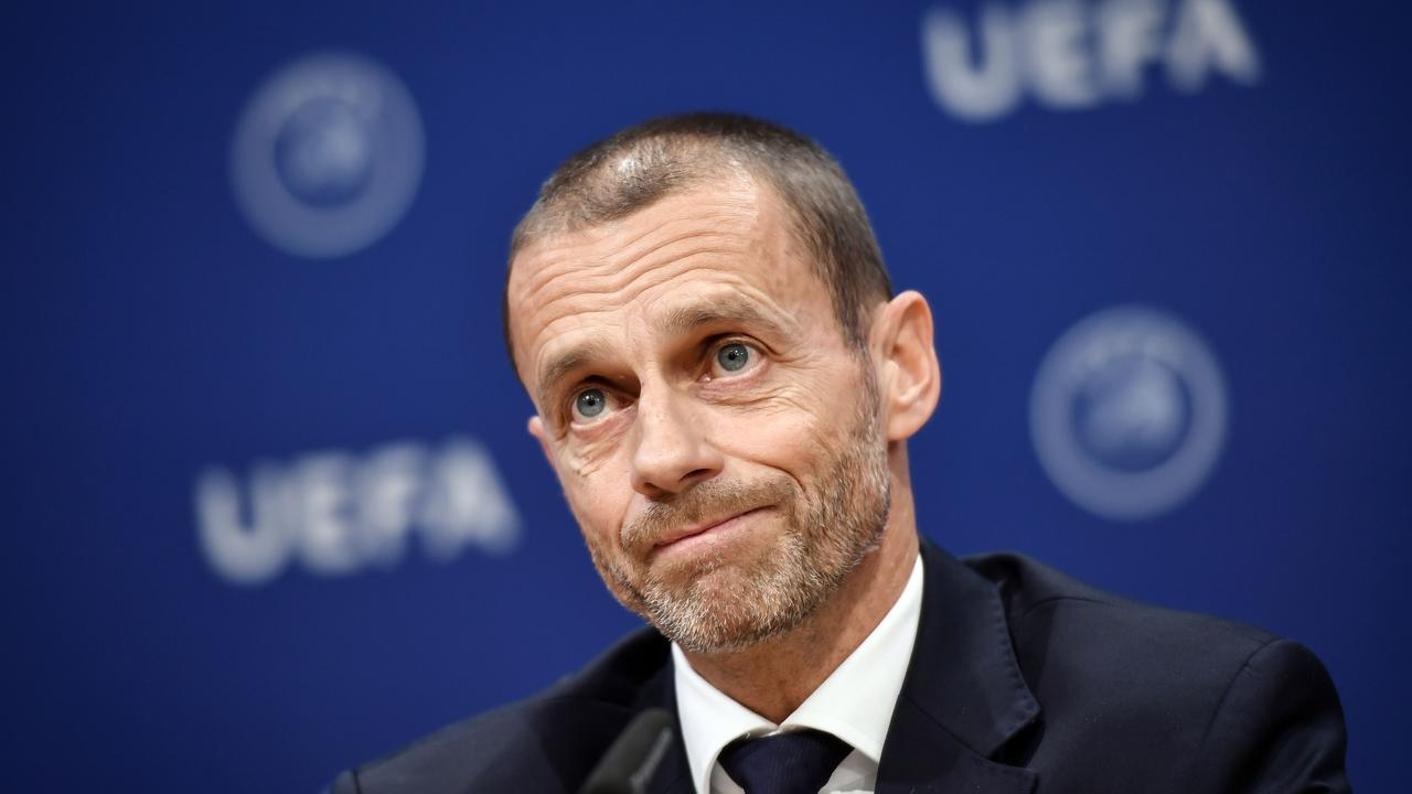 UEFA president Aleksander Ceferin has refused to rule out a ban from next season's Champions League for European Super League clubs.