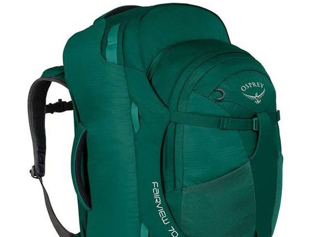 FAIRVIEW 70-LITRE TRAVEL BACKPACK IN RAINFOREST, $224.50 FROM OSPREY Whether you're tall or short, this backpack – that's also especially designed for women – is a great option. As well as being available in two sizes, it's streamlined, light weight, has a zip-off day pack and padded laptop sleeve. And super comfy back straps are the icing on top.
