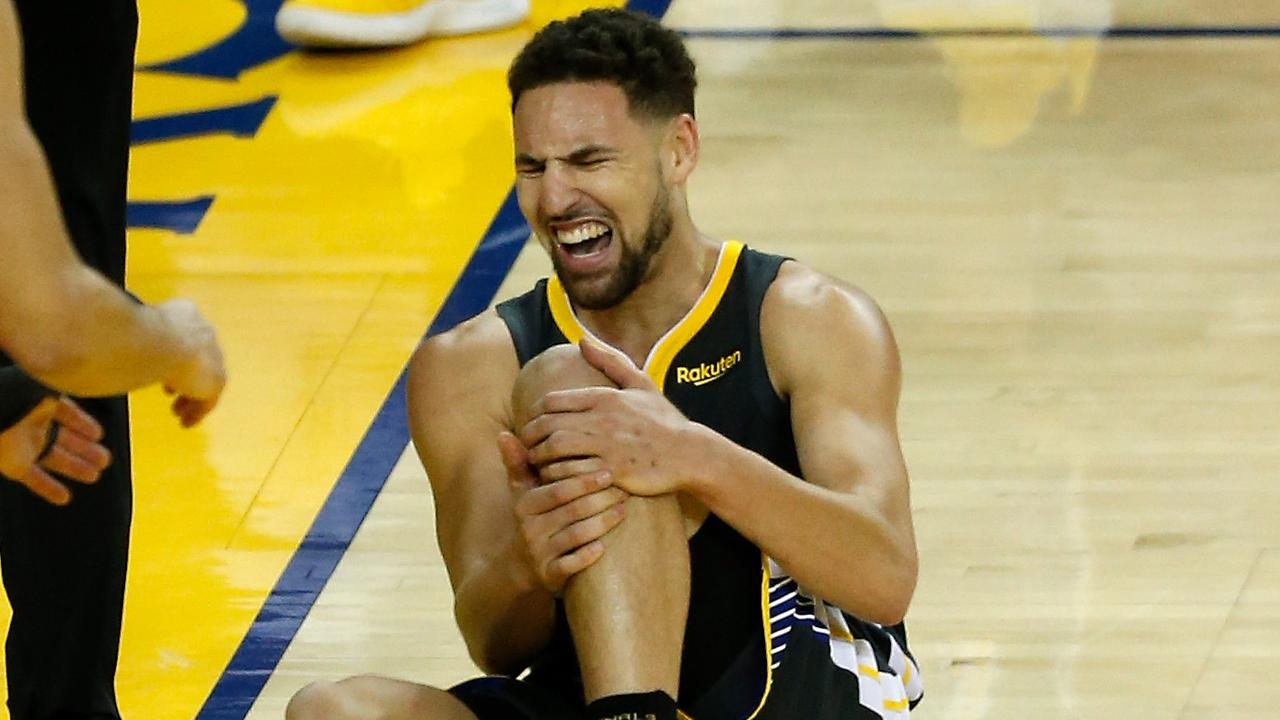 Klay Thompson sustained an injury on Thursday (AEDT).
