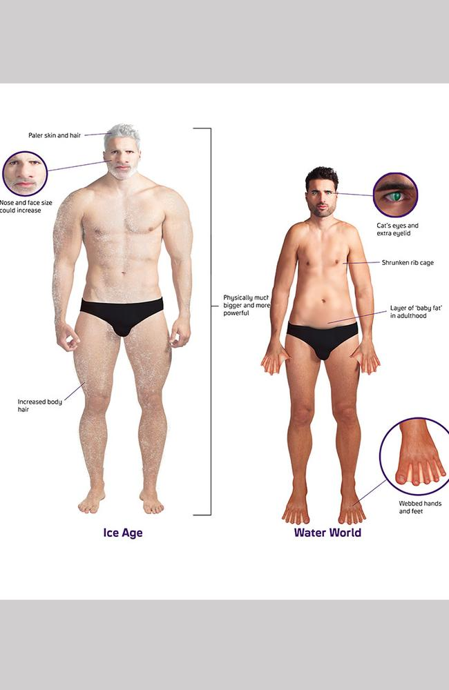 """Ice Age vs Water world human male. Picture: Syfy Channel Europe                         <a class=""""capi-webframe"""" capiId=""""_BEGIN:1227264141269:END_""""></a>"""