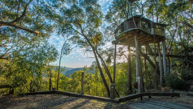 9/10Treehouse Blue Mountains, Bilpin, NSW Live the high life – at least for a weekend – at this couple's only offering set on 600 acres of private wilderness. We love the spa and views of Bowen's Creek Gorge. From $1095 per night. While you're there: Hit up the historic Lochiel House for a slow Sunday lunch.