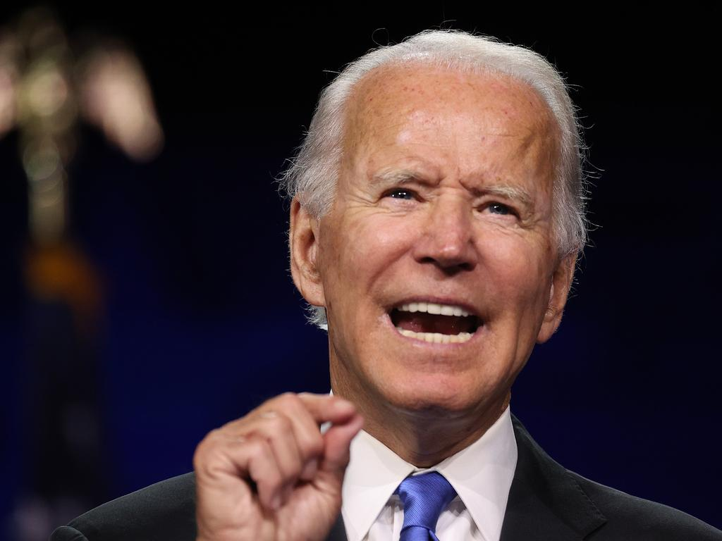 Democratic presidential nominee Joe Biden is now being endorsed by a string of former Republican staffers in the lead-up to the US election. Picture: Win McNamee/Getty Images/AFP
