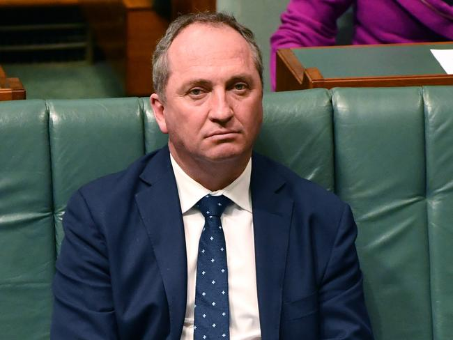 Deputy Prime Minister Barnaby Joyce in the House of Representatives today. Picture: AAP